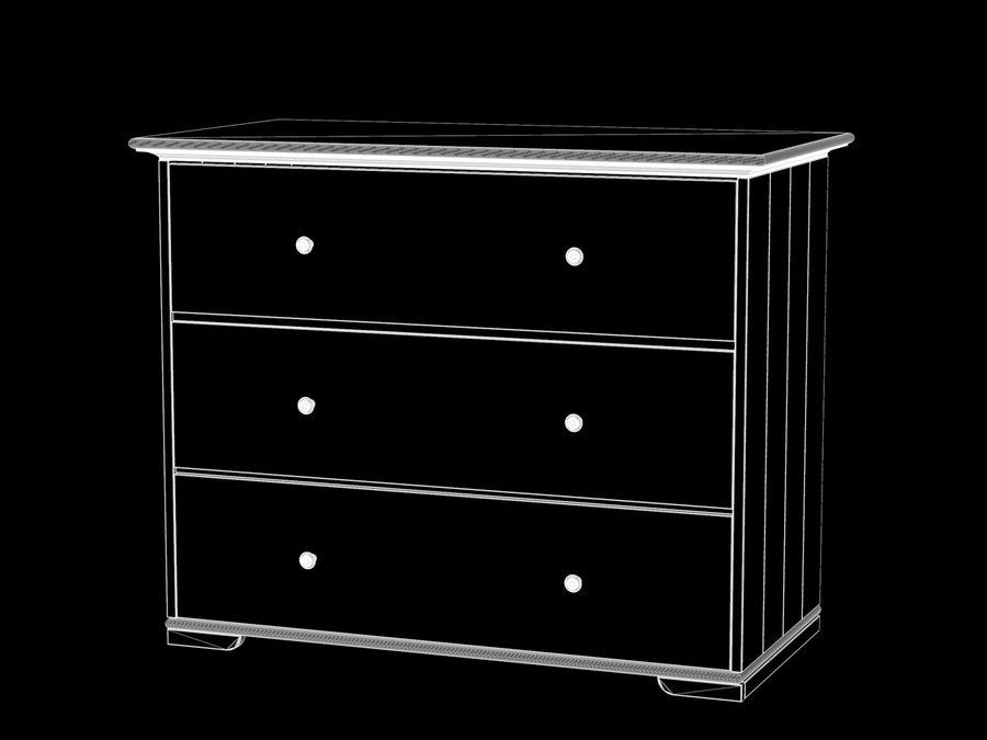 IKEA Hurdal-lådor royalty-free 3d model - Preview no. 2