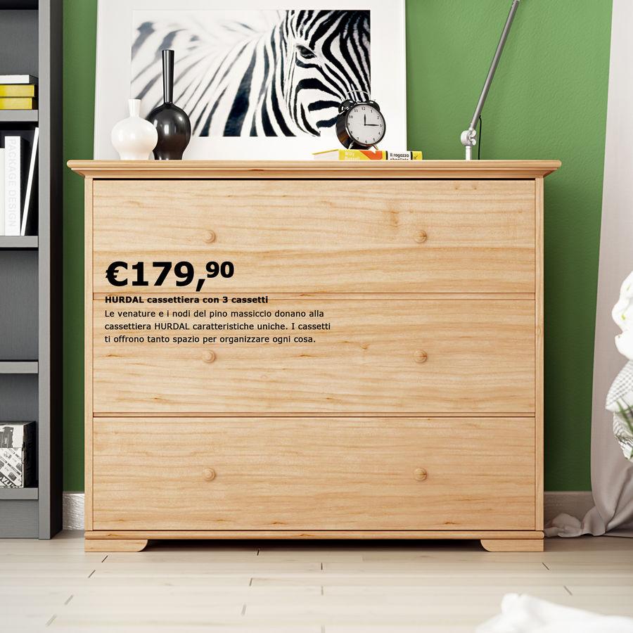 IKEA Hurdal-lådor royalty-free 3d model - Preview no. 5