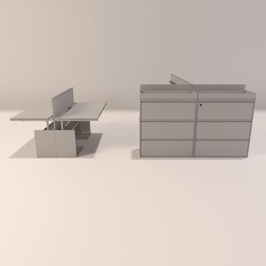Büro-Schreibtische royalty-free 3d model - Preview no. 8