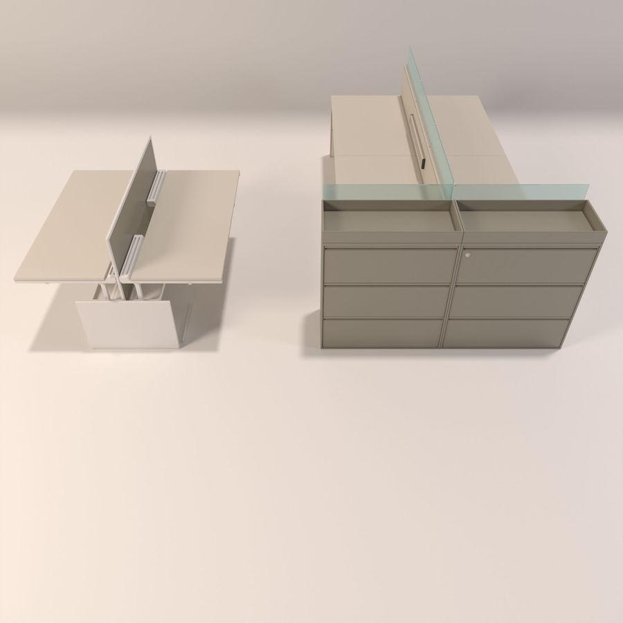 Büro-Schreibtische royalty-free 3d model - Preview no. 3