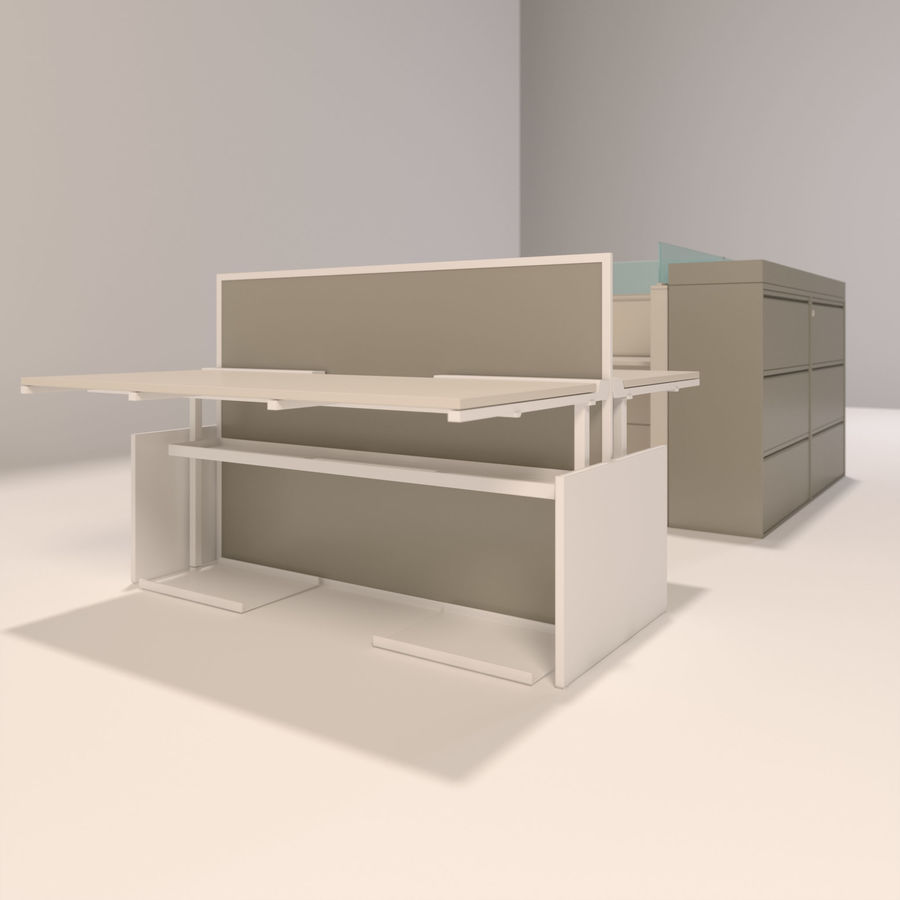 Büro-Schreibtische royalty-free 3d model - Preview no. 1