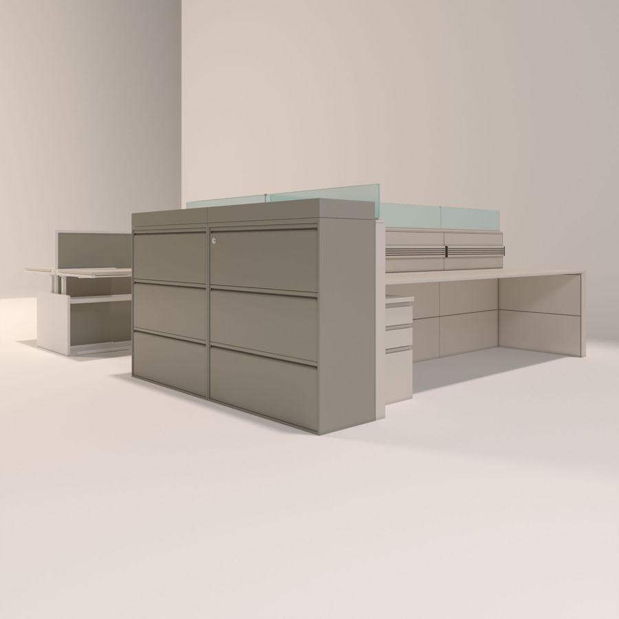 Büro-Schreibtische royalty-free 3d model - Preview no. 2