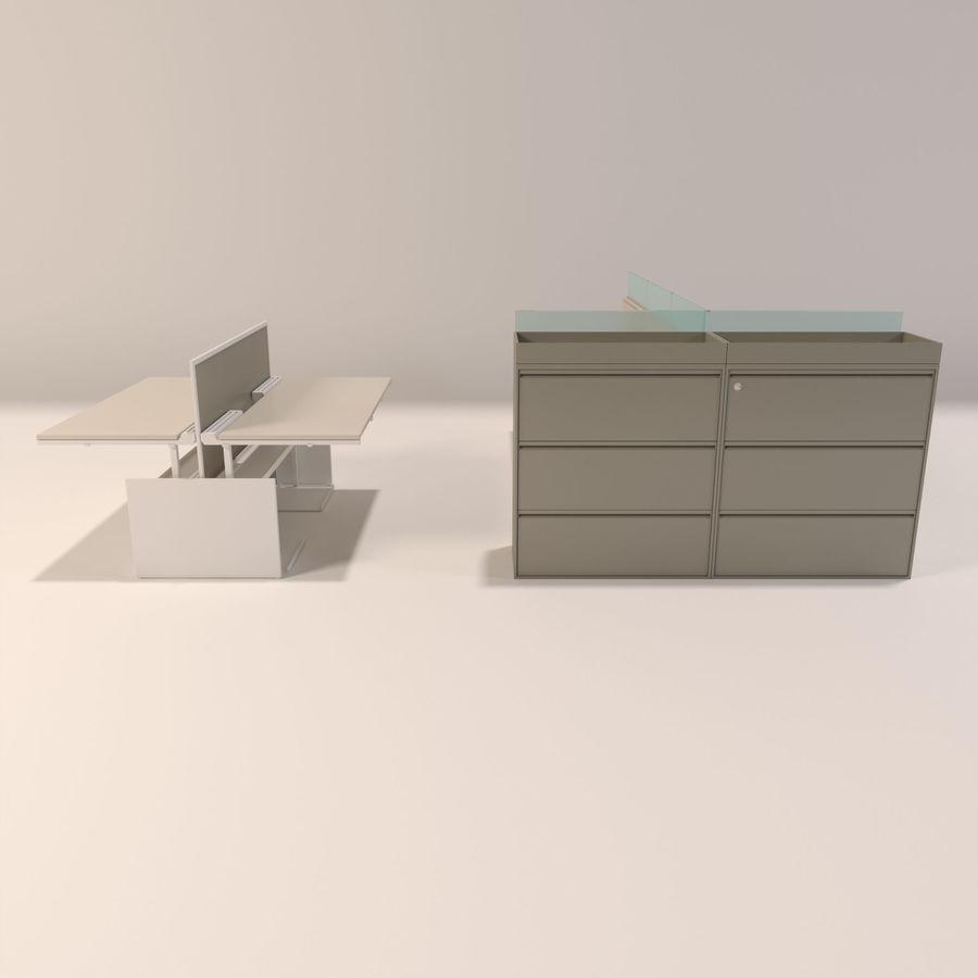 Büro-Schreibtische royalty-free 3d model - Preview no. 4