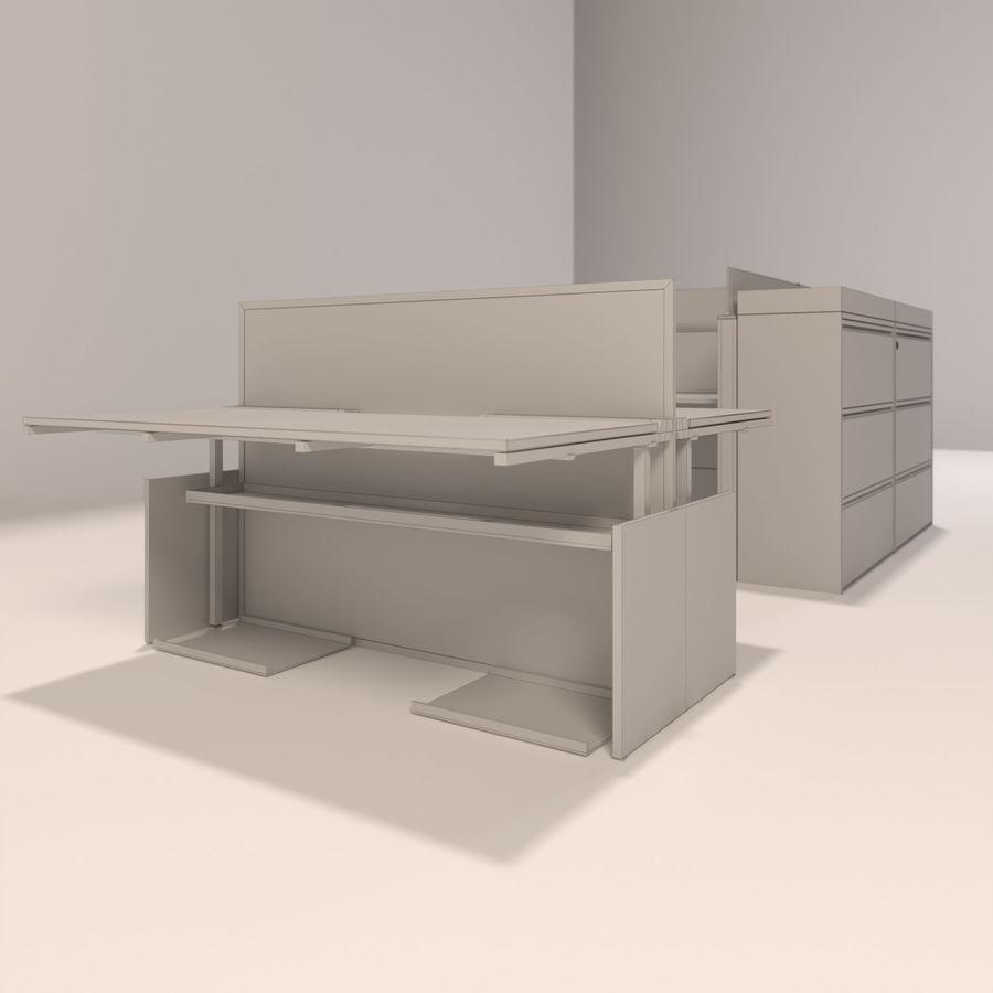 Büro-Schreibtische royalty-free 3d model - Preview no. 5