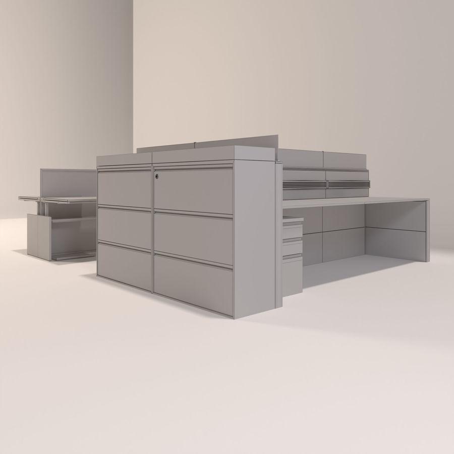 Büro-Schreibtische royalty-free 3d model - Preview no. 6
