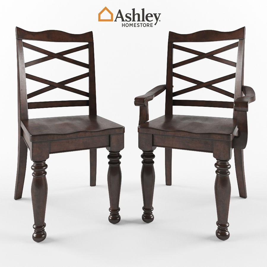 Porter Dining Room Chair royalty-free 3d model - Preview no. 1