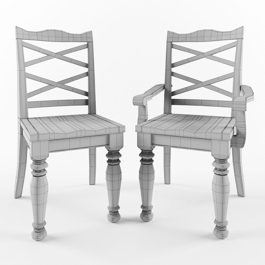 Porter Dining Room Chair royalty-free 3d model - Preview no. 5
