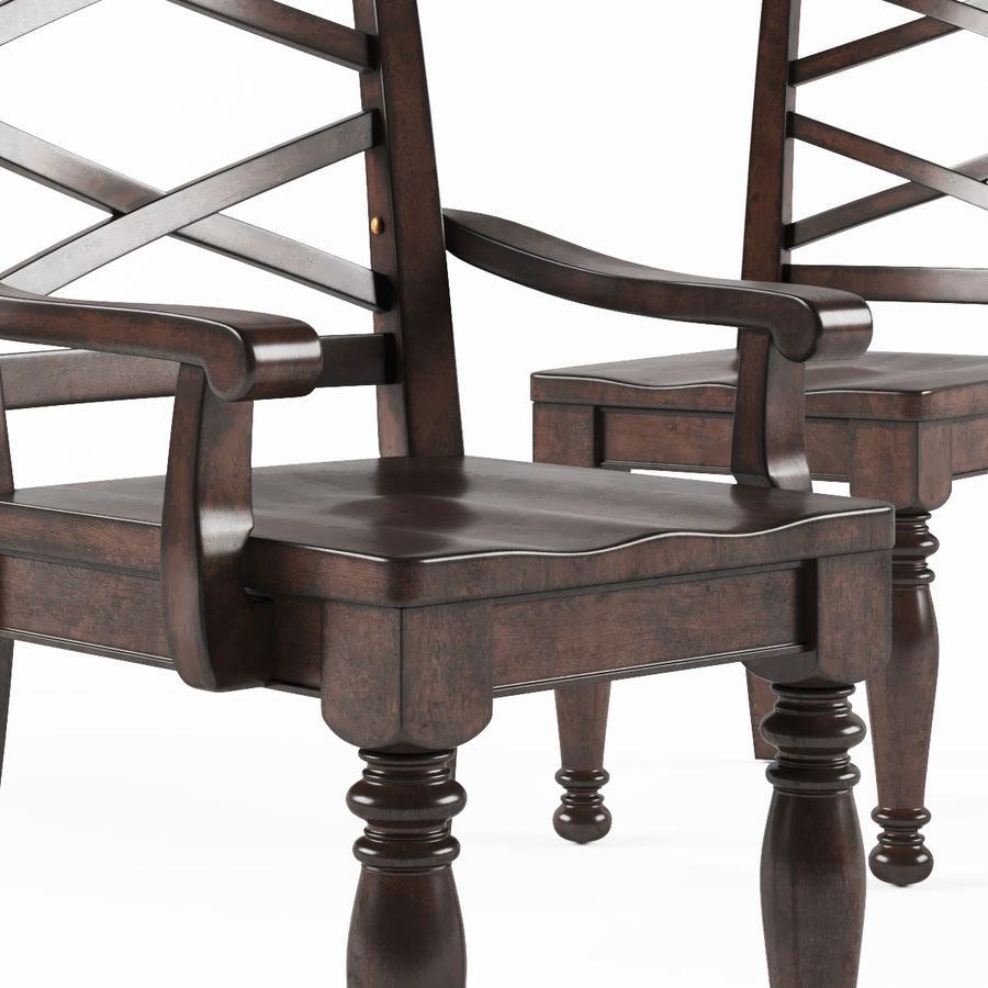 Porter Dining Room Chair royalty-free 3d model - Preview no. 3