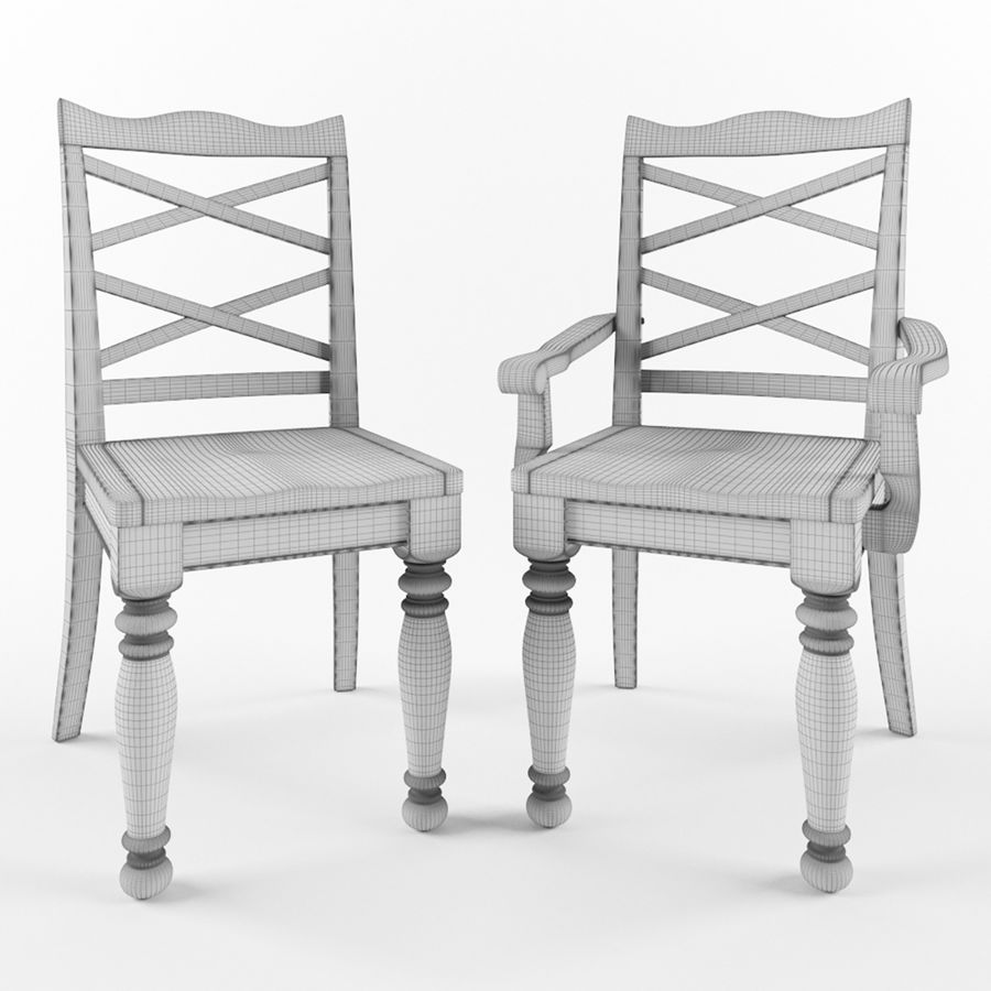 Porter Dining Room Chair royalty-free 3d model - Preview no. 4