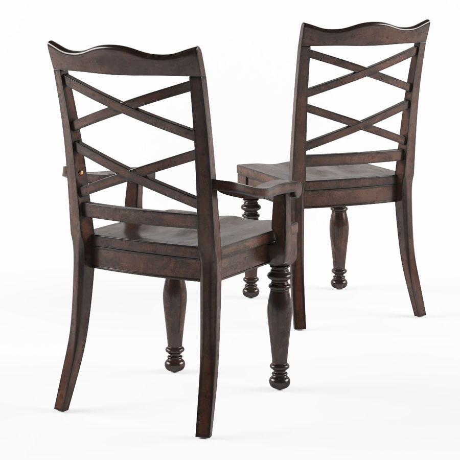 Porter Dining Room Chair royalty-free 3d model - Preview no. 2