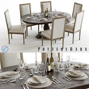 Pottery Barn Lorraine and Miller 3d model
