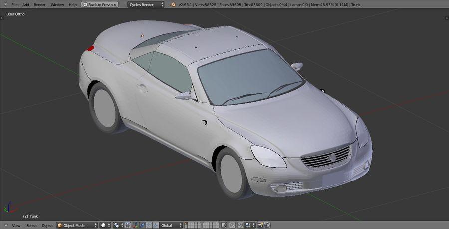 Soaer_Car royalty-free 3d model - Preview no. 4