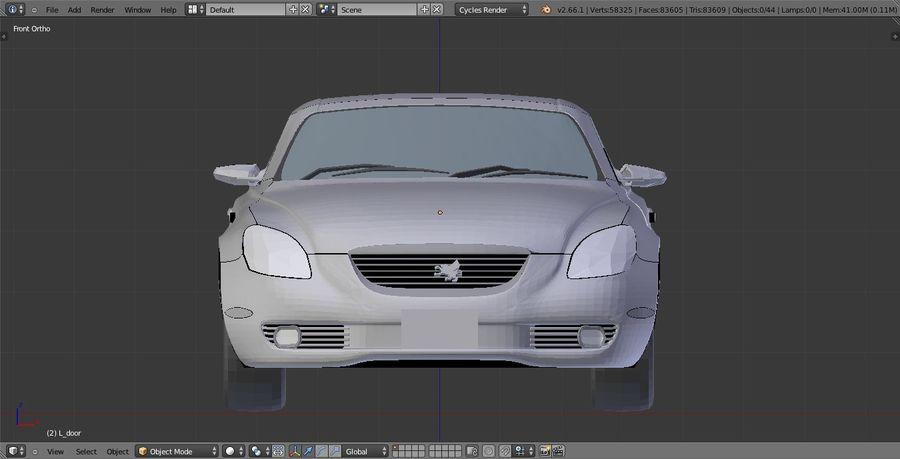 Soaer_Car royalty-free 3d model - Preview no. 2
