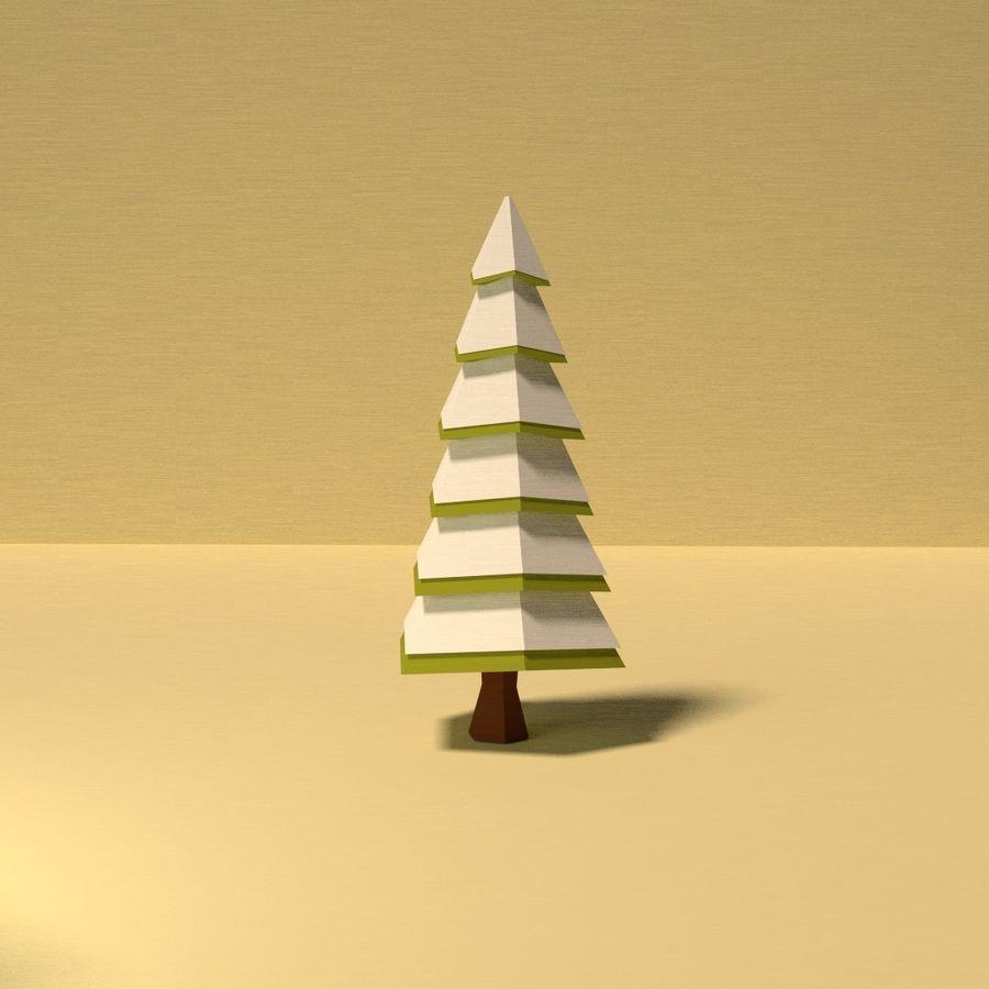 Zasoby drzew w Low Poly - 12 drzew royalty-free 3d model - Preview no. 9