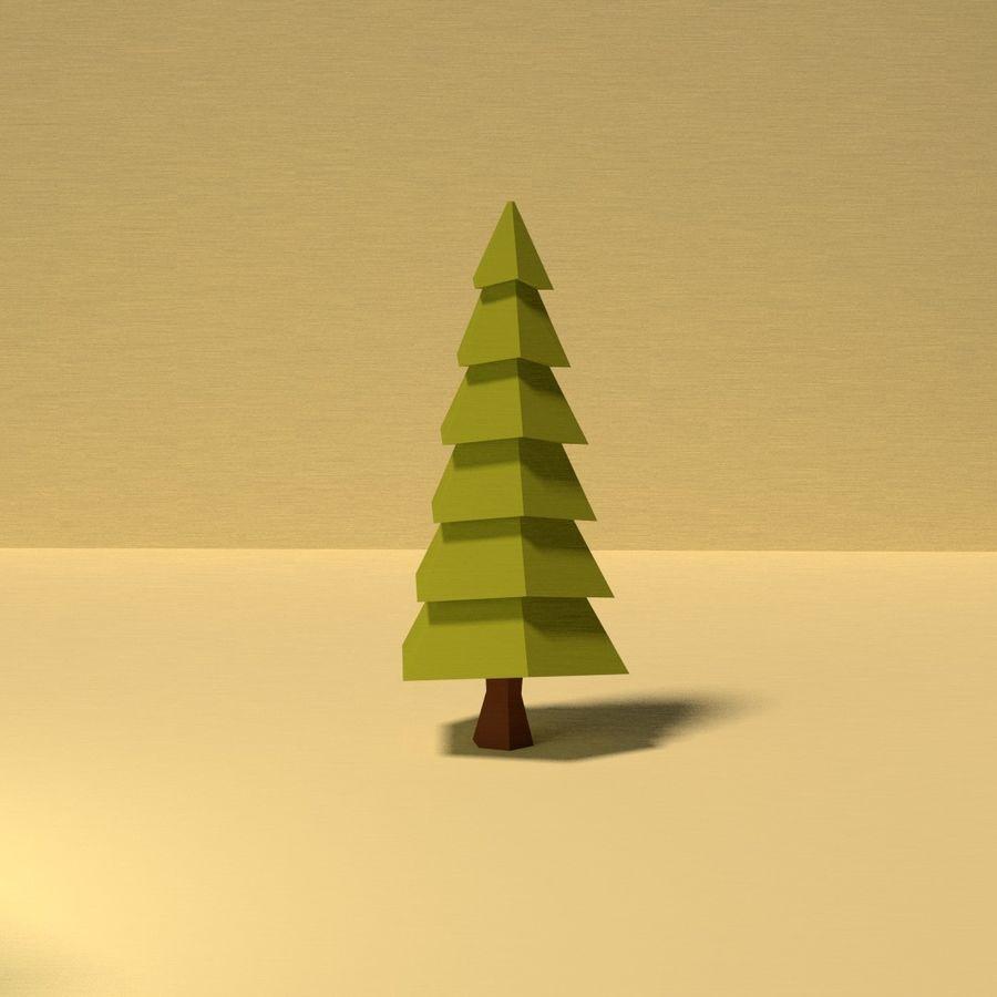 Zasoby drzew w Low Poly - 12 drzew royalty-free 3d model - Preview no. 7