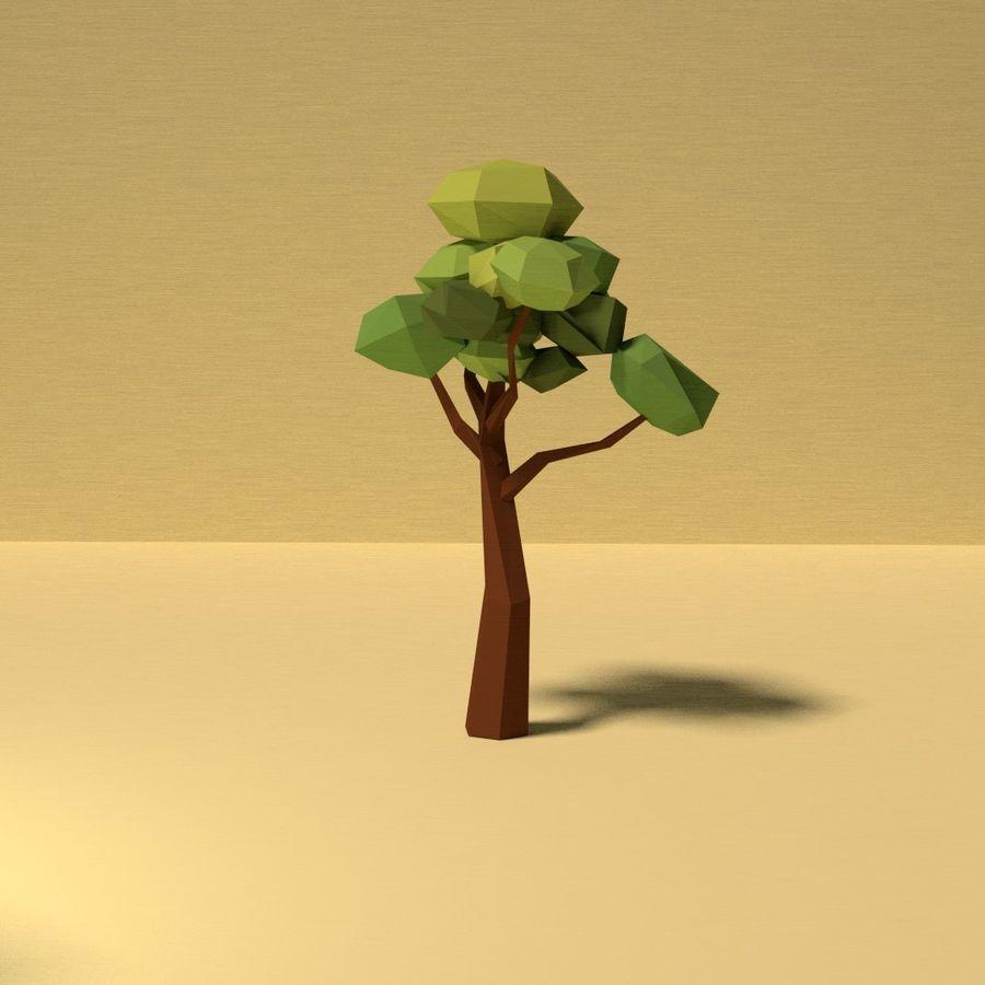 Zasoby drzew w Low Poly - 12 drzew royalty-free 3d model - Preview no. 12
