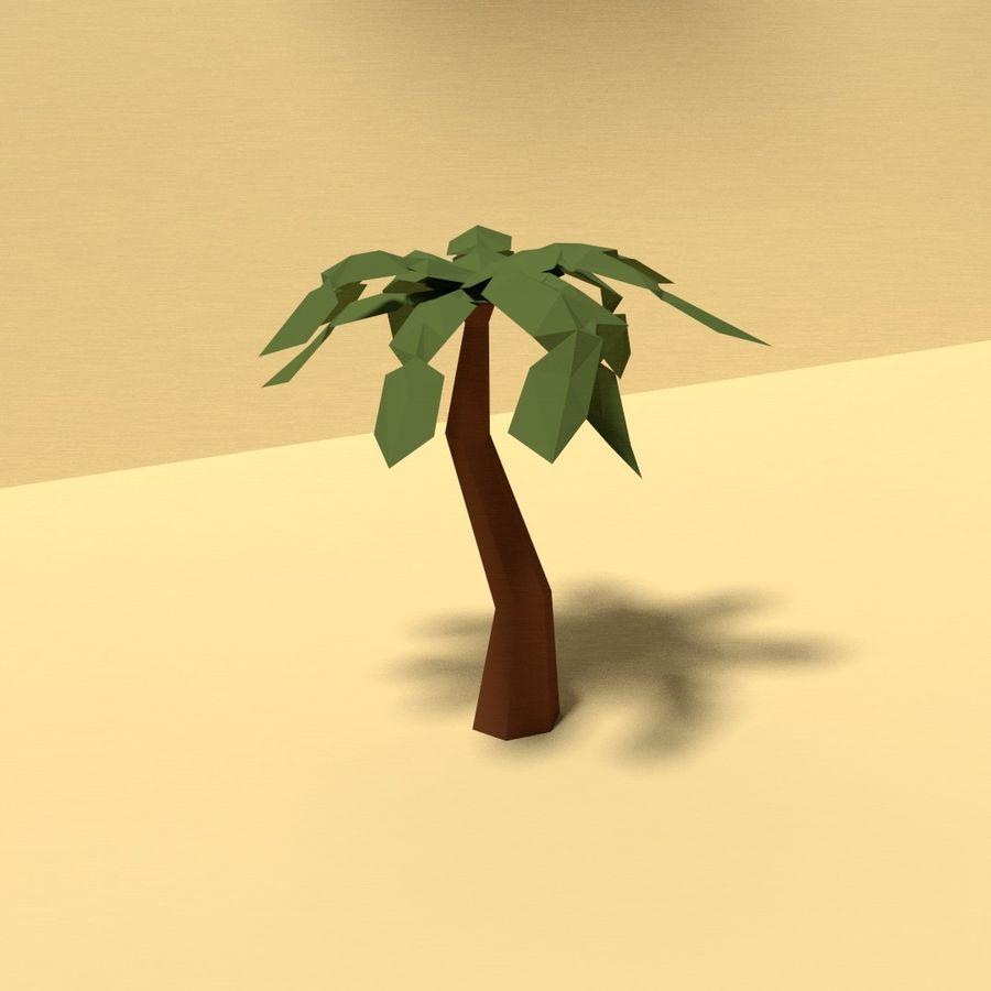 Zasoby drzew w Low Poly - 12 drzew royalty-free 3d model - Preview no. 6