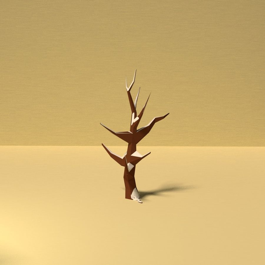 Zasoby drzew w Low Poly - 12 drzew royalty-free 3d model - Preview no. 5
