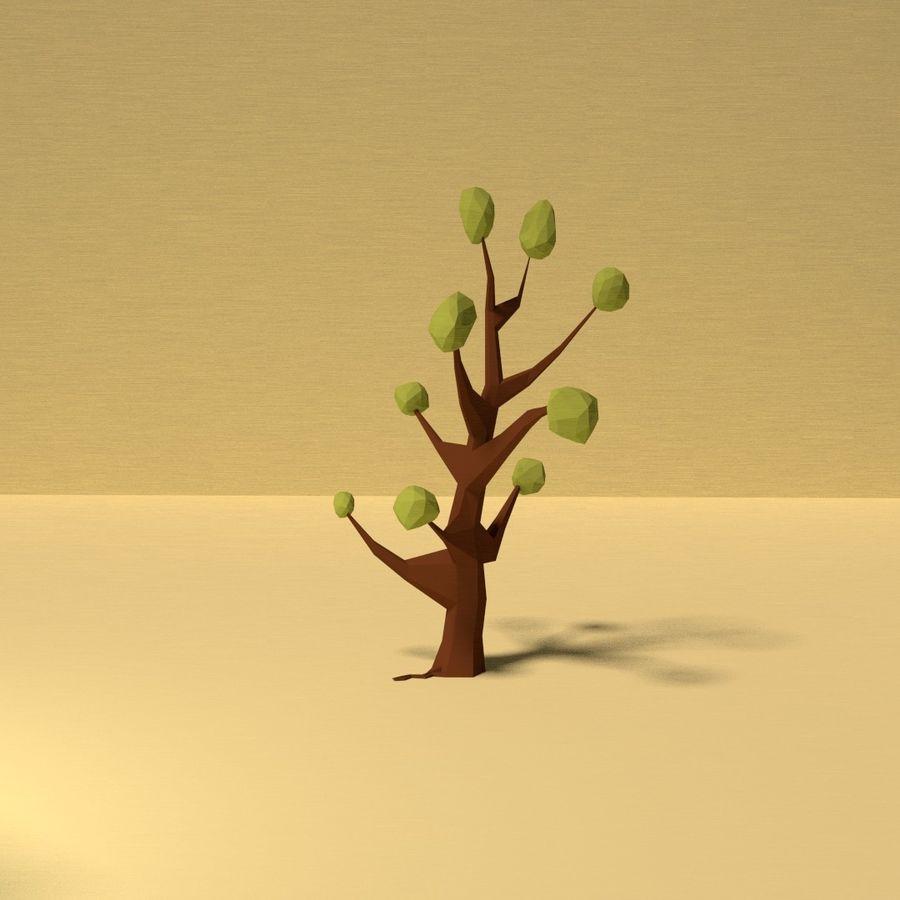 Zasoby drzew w Low Poly - 12 drzew royalty-free 3d model - Preview no. 3