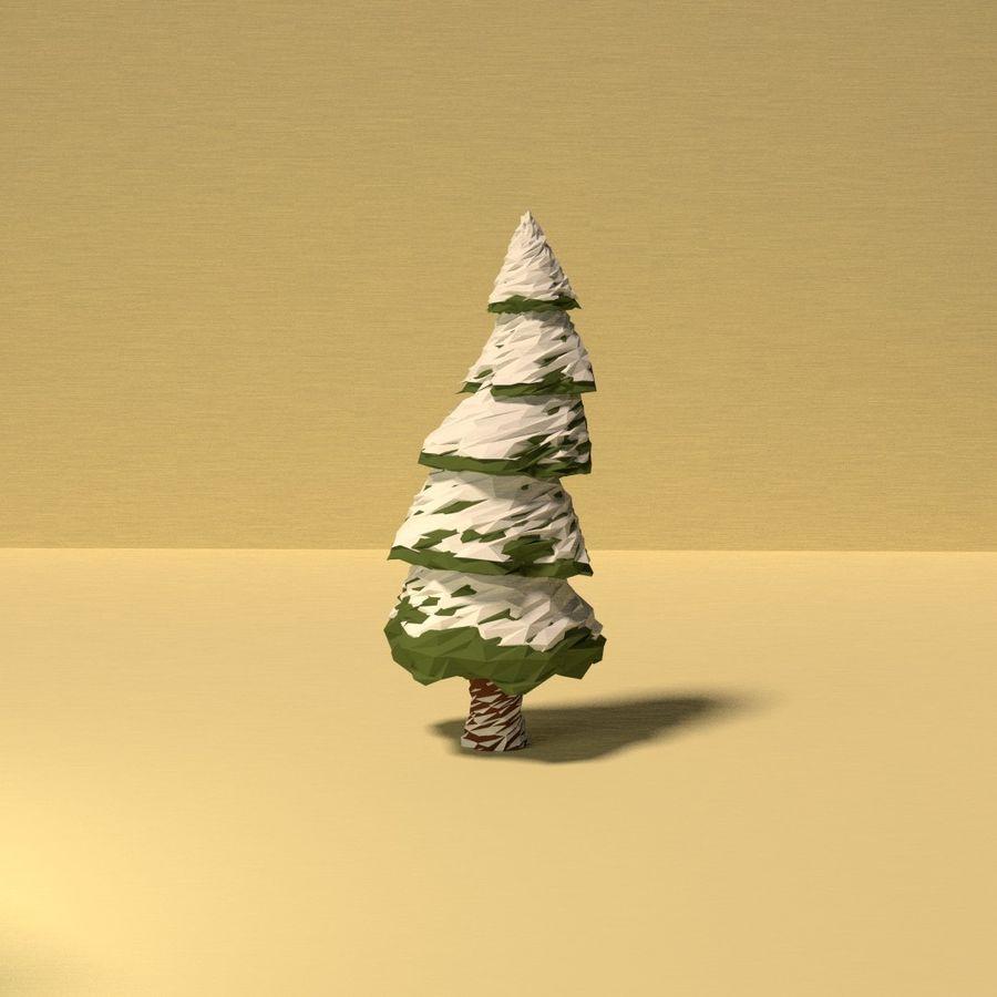 Zasoby drzew w Low Poly - 12 drzew royalty-free 3d model - Preview no. 10