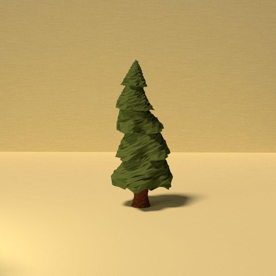 Zasoby drzew w Low Poly - 12 drzew royalty-free 3d model - Preview no. 8