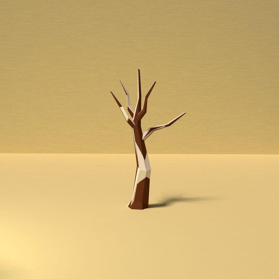 Zasoby drzew w Low Poly - 12 drzew royalty-free 3d model - Preview no. 13
