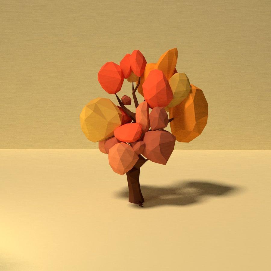 Zasoby drzew w Low Poly - 12 drzew royalty-free 3d model - Preview no. 2