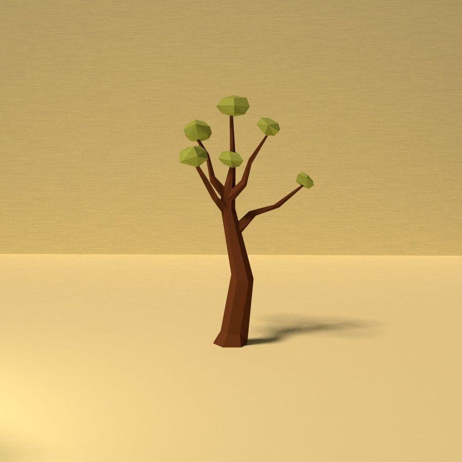 Zasoby drzew w Low Poly - 12 drzew royalty-free 3d model - Preview no. 11