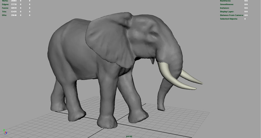 Afrikansk elefant royalty-free 3d model - Preview no. 7