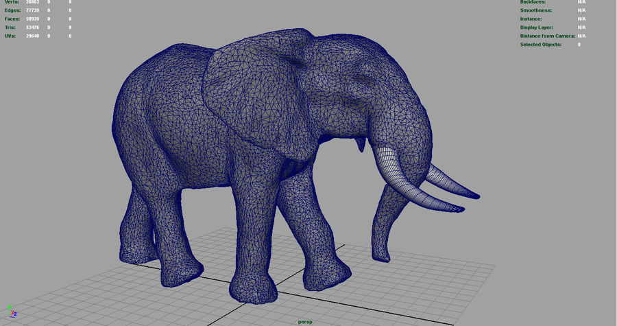 African Elephant royalty-free 3d model - Preview no. 8