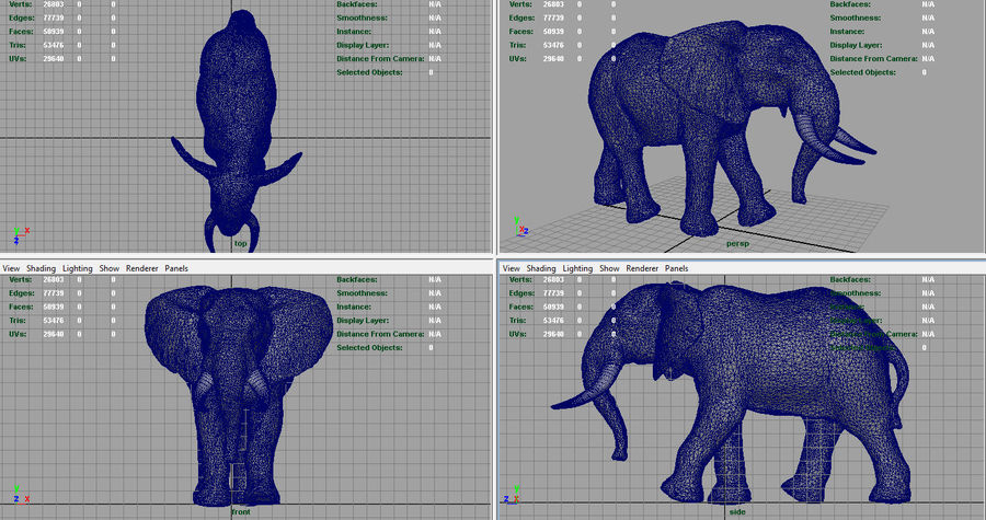 African Elephant royalty-free 3d model - Preview no. 11
