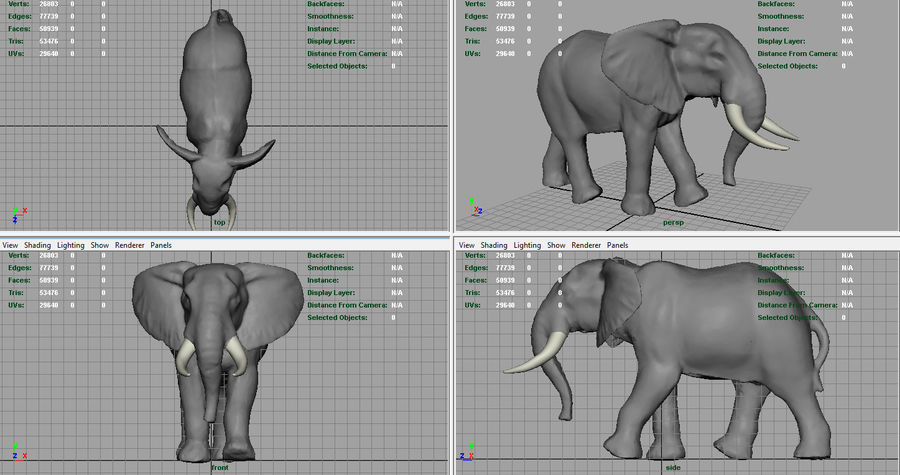 Afrikansk elefant royalty-free 3d model - Preview no. 10