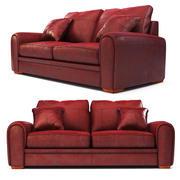 sofá de couro 3d model