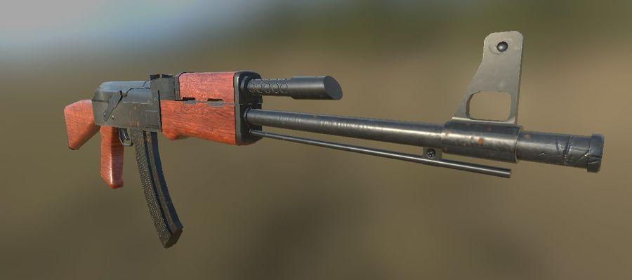 AK-47 royalty-free 3d model - Preview no. 4