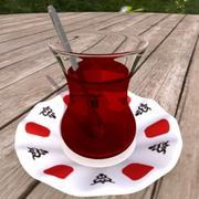 Turkish Tea Glass 3d model