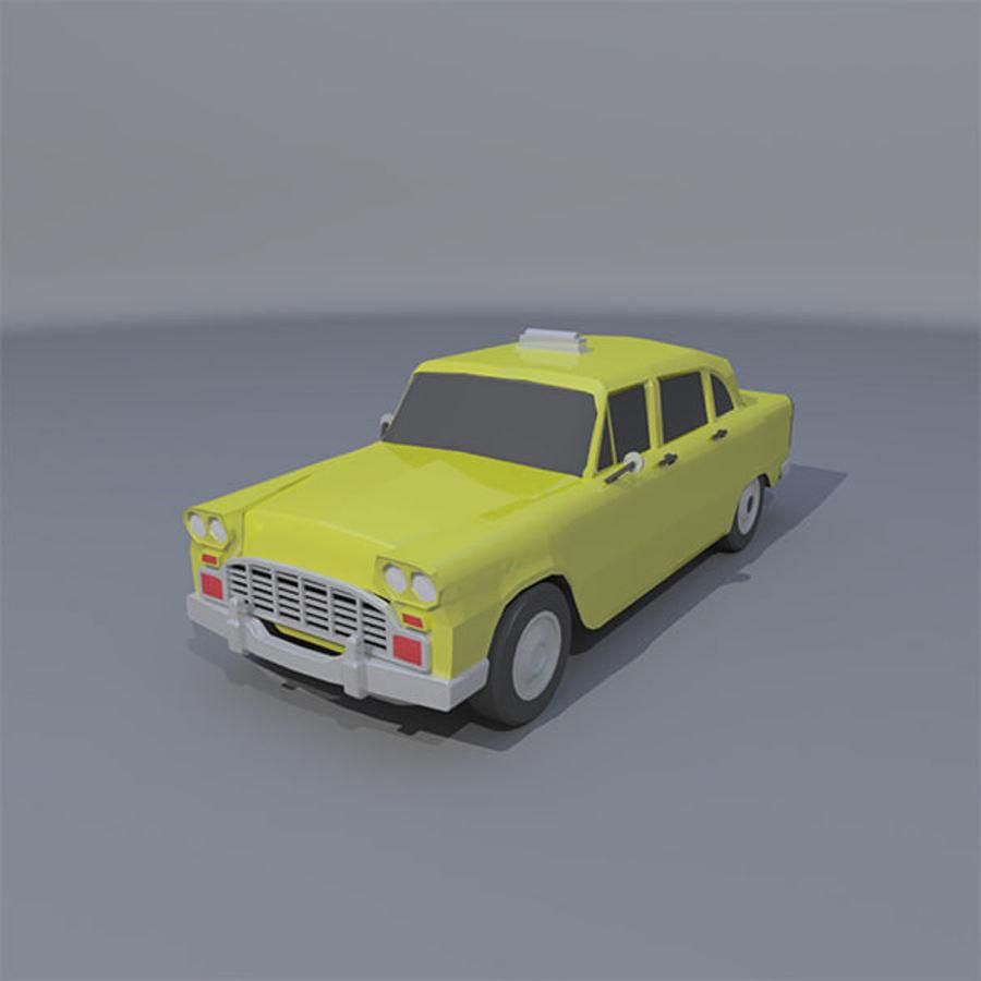 低ポリタクシー royalty-free 3d model - Preview no. 1