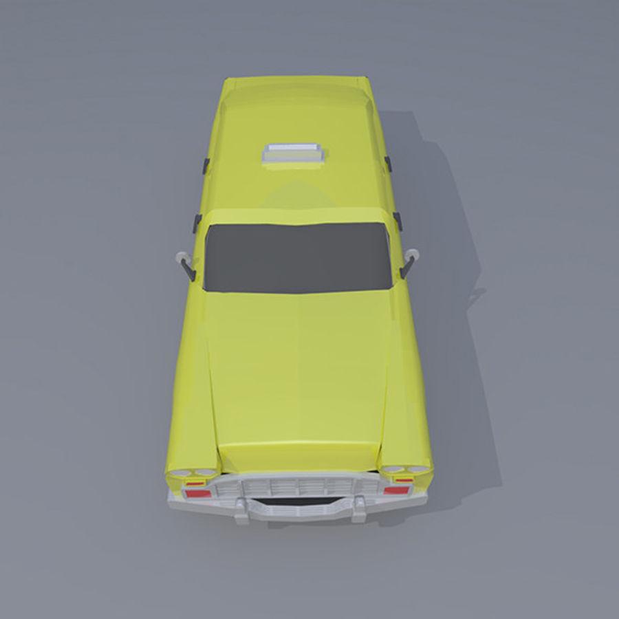 低ポリタクシー royalty-free 3d model - Preview no. 6