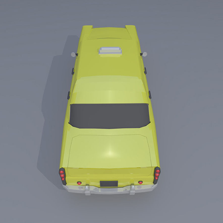 低ポリタクシー royalty-free 3d model - Preview no. 7