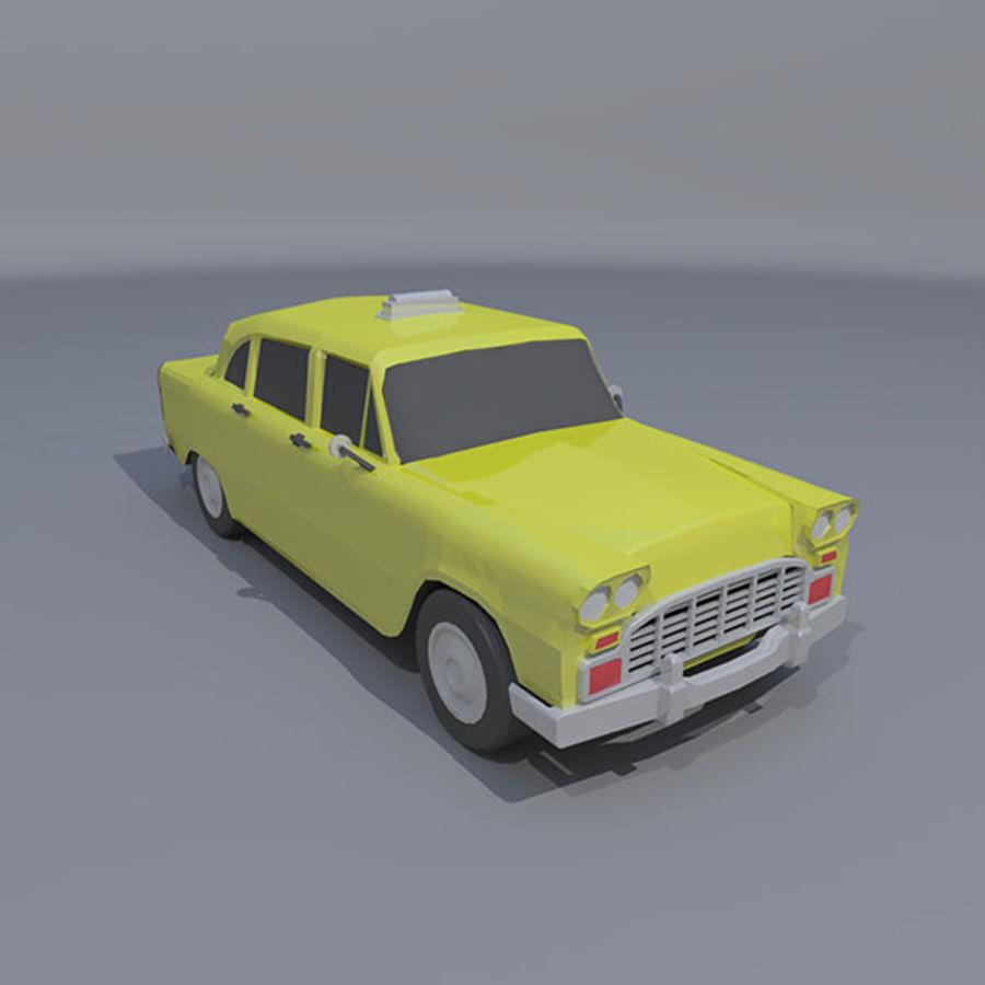低ポリタクシー royalty-free 3d model - Preview no. 5