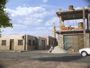 escena exterior modelo 3d