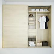 Garderob med kläder 3d model