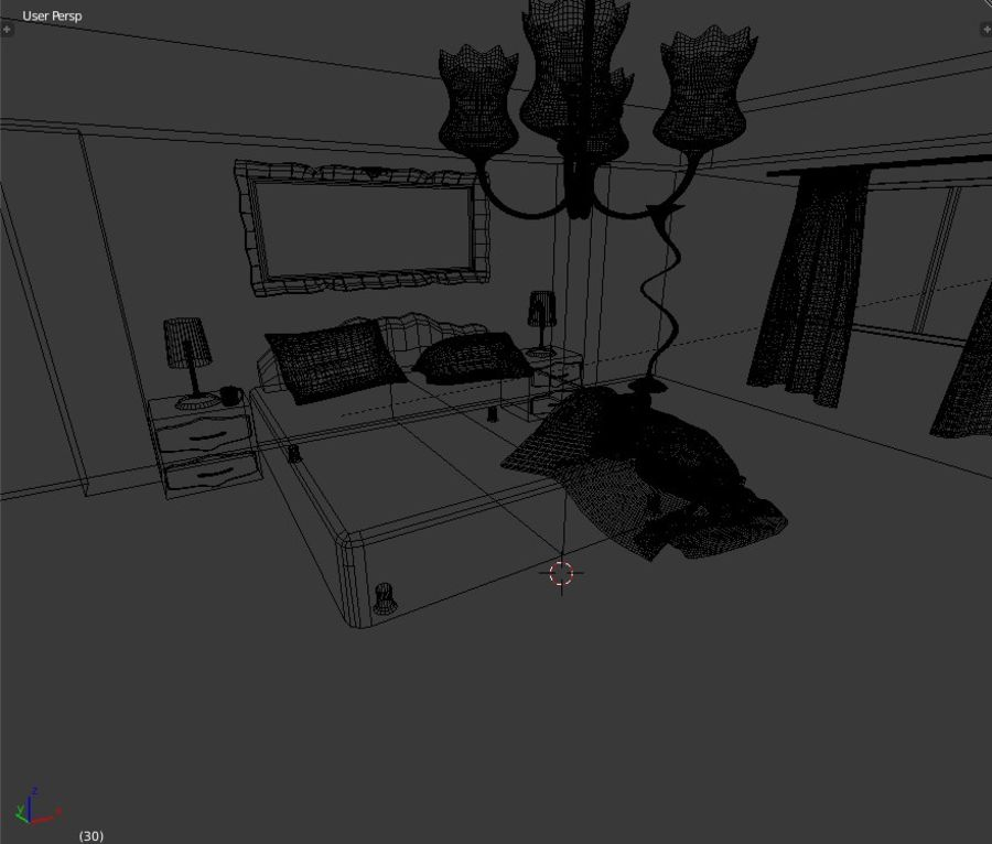 Simple Beautiful Room royalty-free 3d model - Preview no. 9