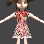Cartoon female child(1) 3d model