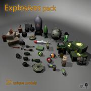 폭발물 팩 3d model