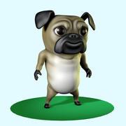 パグ犬トゥーン 3d model