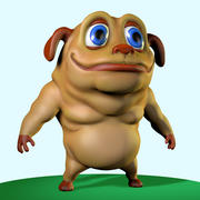 Big Dog Character 3d model