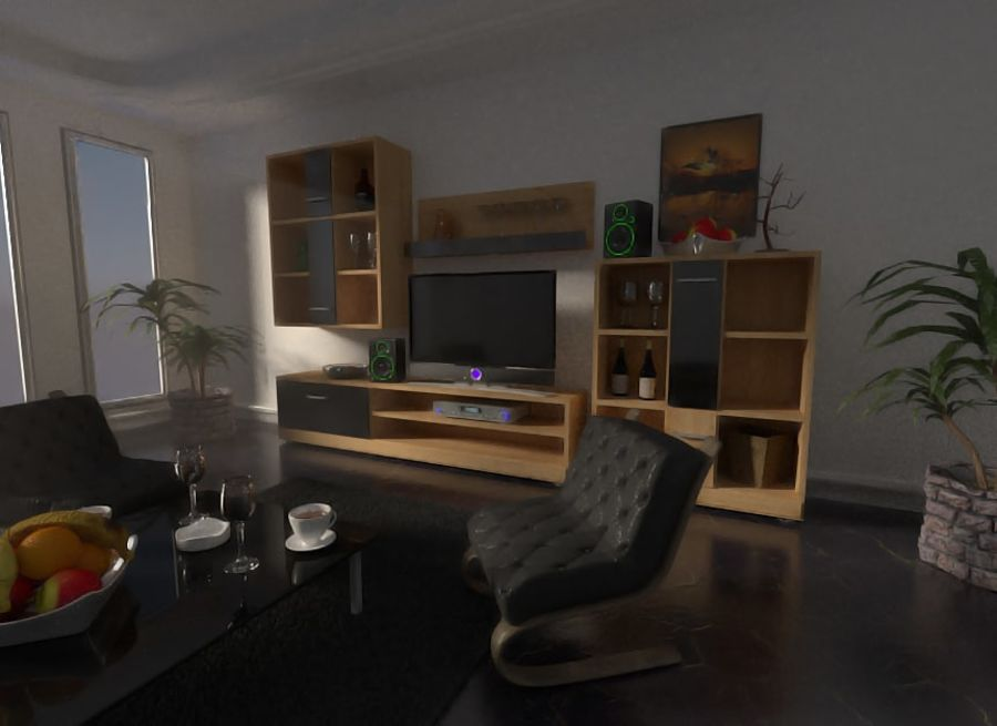 Beautiful Simple Room royalty-free 3d model - Preview no. 2