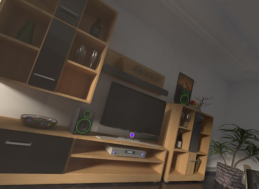Beautiful Simple Room royalty-free 3d model - Preview no. 4