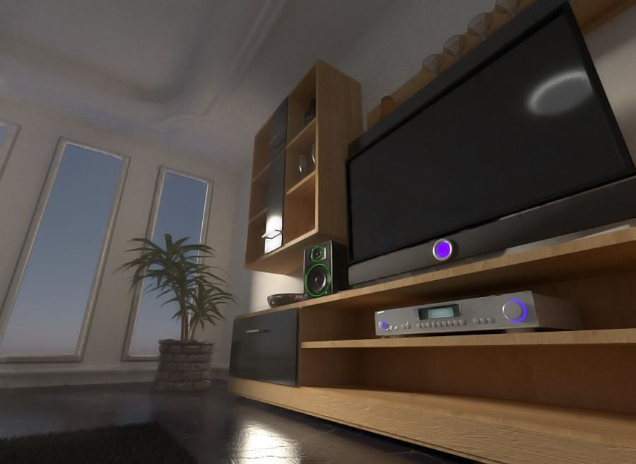 Beautiful Simple Room royalty-free 3d model - Preview no. 7