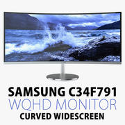 Samsung C34F791 34 inch Curverd Widescreen Monitor 3d model